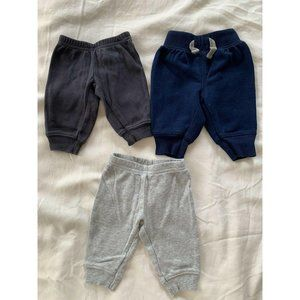 Baby Bottoms Lot 3 Pairs Of Pants NewBorn